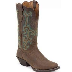 JUSTIN Sorrel Apache Stampede western boot sz 6.5